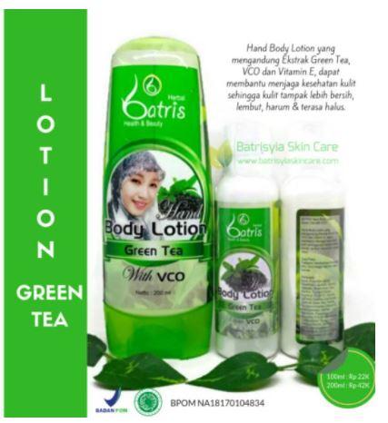 Body lotion herbal dari green tea