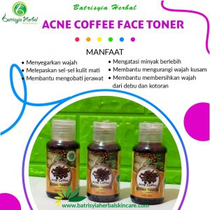 acne coffee face toner batrisyia herbal skincare