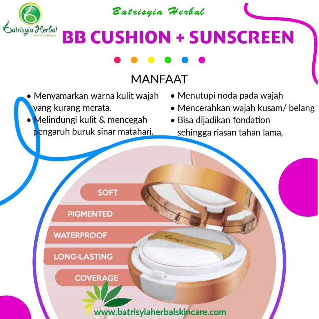 bb cushion plus sunscreen batrisyia herbal skincare