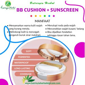 bb cushion plus sunscreen batrisyia herbal skincare