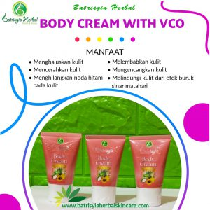 body cream with vco batrisyia herbal skincare
