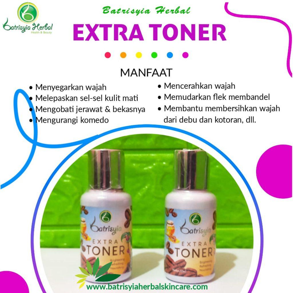 extra toner batrisyia herbal skincare
