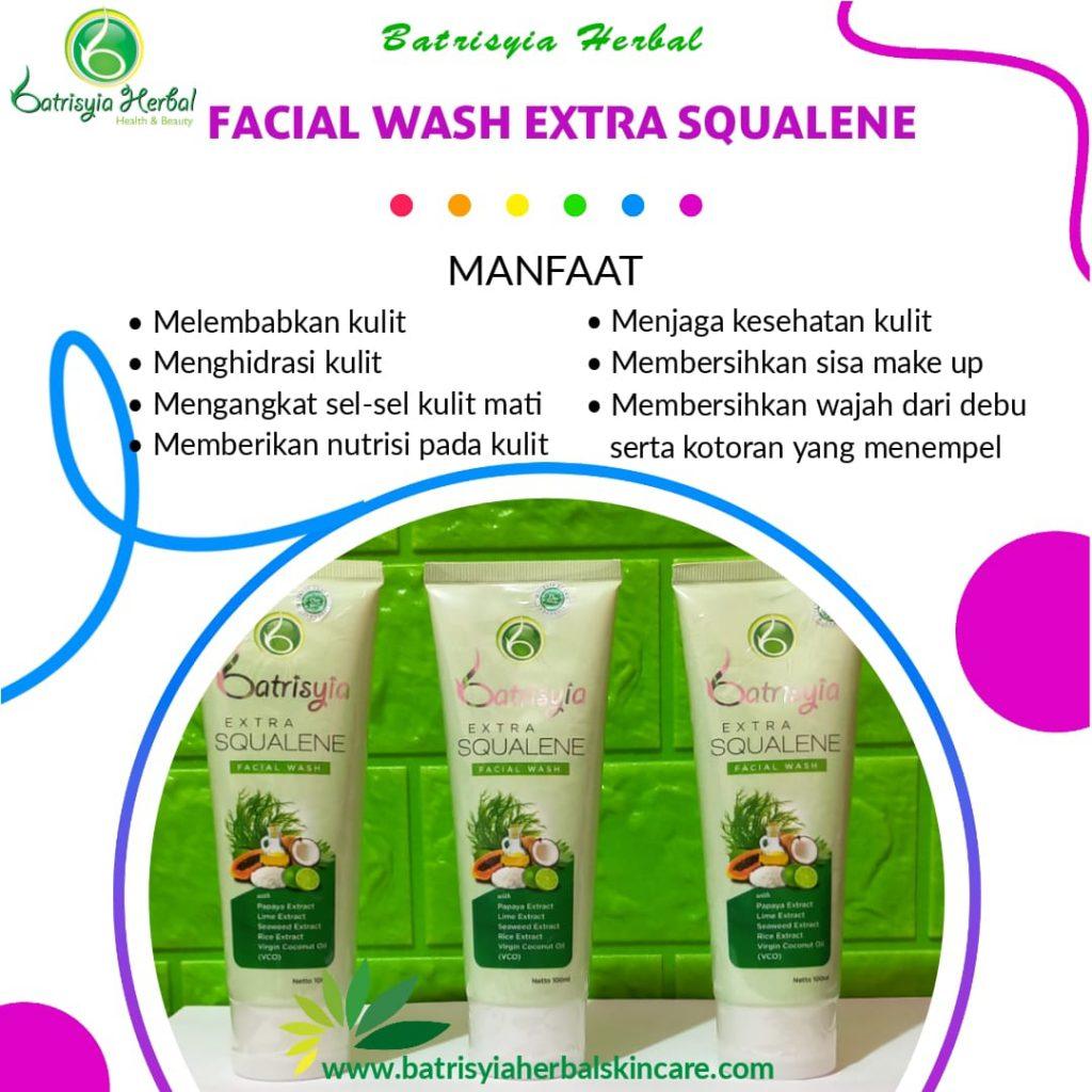 batrisyia facial wash extra squalene