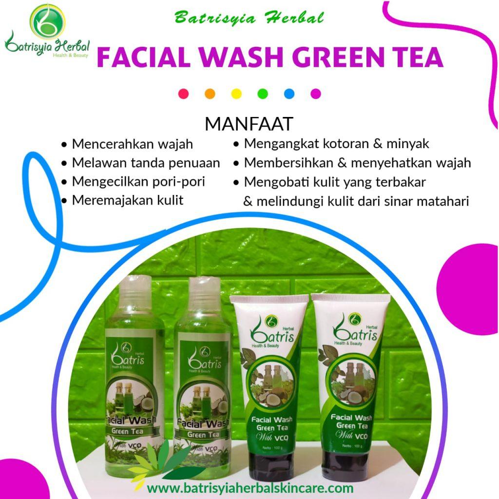batrisyia facial wash green tea