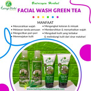 batrisyia facial wash green tea