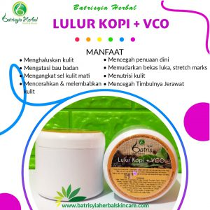 lulur kopi with vco batrisyia herbal skincare