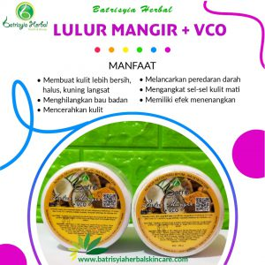 lulur mangir with vco batrisyia herbal skincare