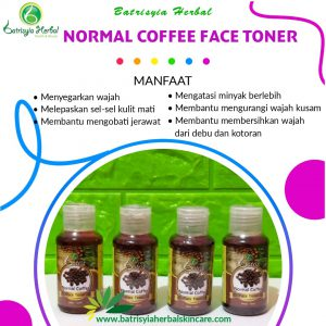 normal coffee face toner batrisyia herbal skincare