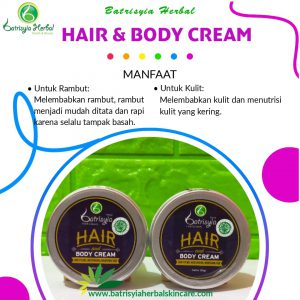 pomade hair and body cream batrisyia herbal skincare
