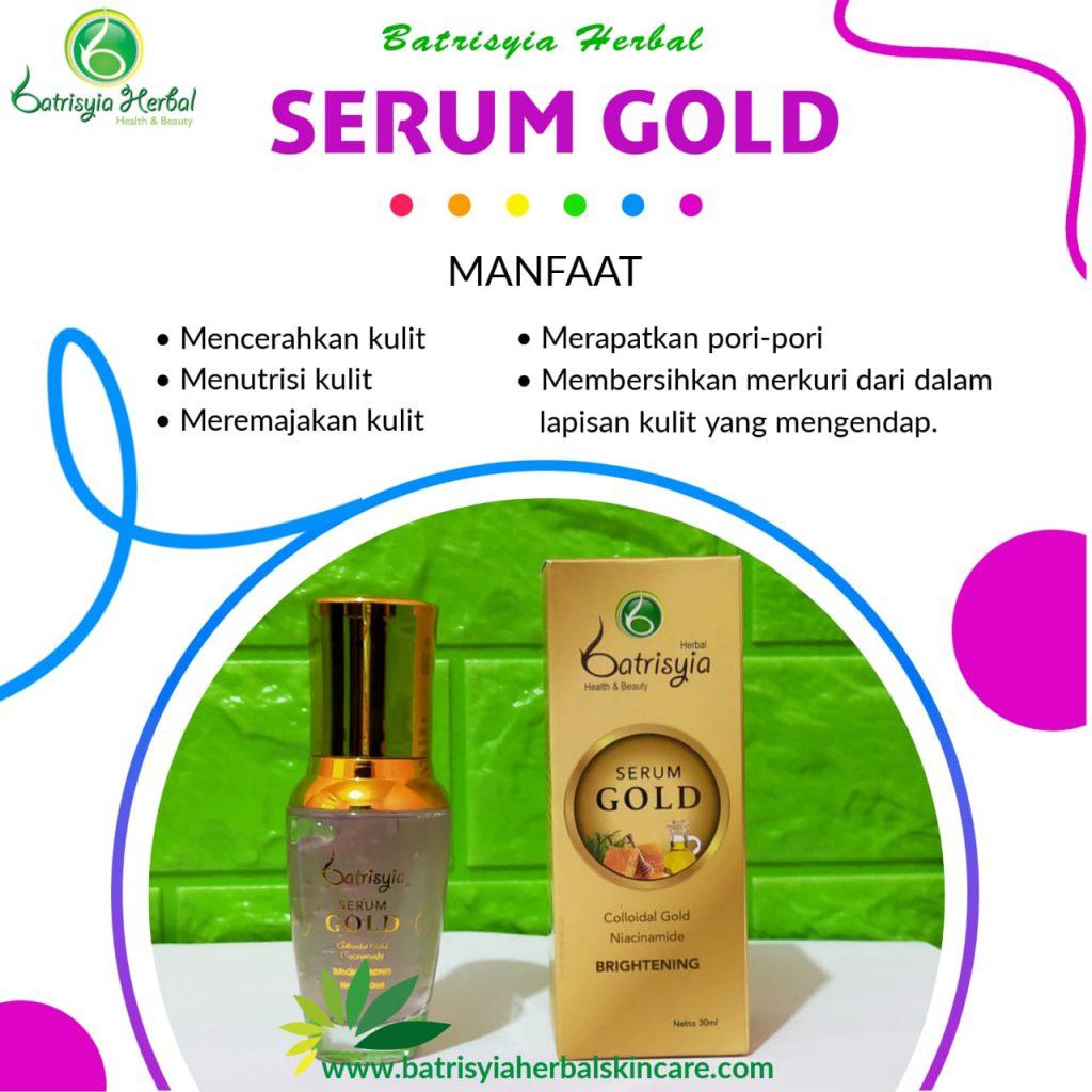 serum gold batrisyia herbal skincare