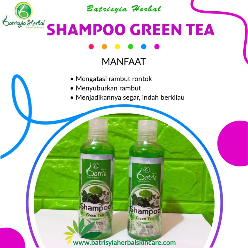 shampoo green tea batrisyia herbal skincare