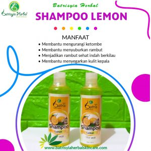 shampoo lemon batrisyia herbal skincare