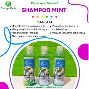 shampoo mint batrisyia herbal skincare