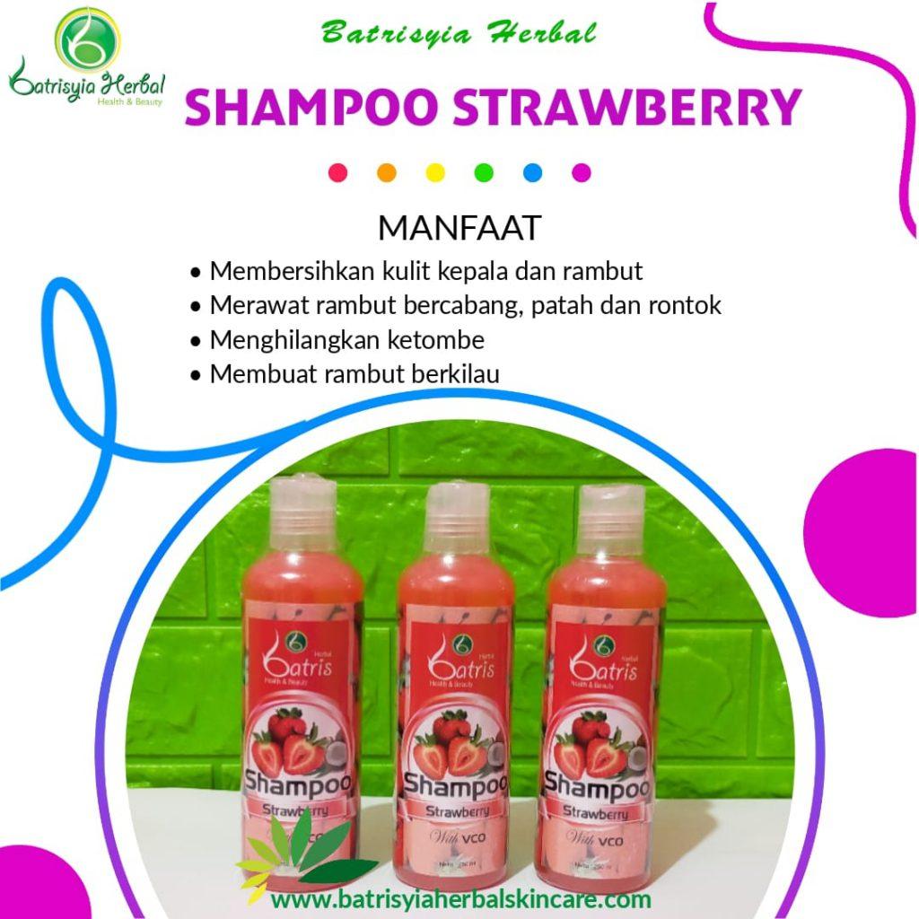 shampoo strawberry batrisyia herbal skincare
