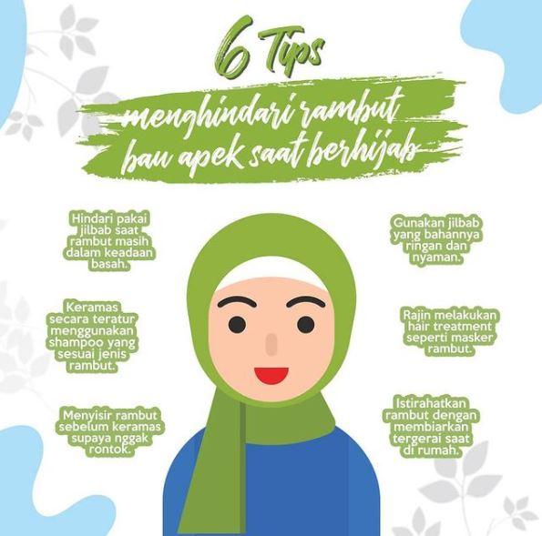 mencegah bau apek dan rambut rontok untuk hijabers