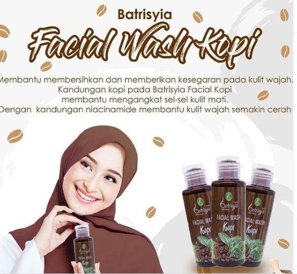 Batrisyia Facial Wash kopi untuk flek hitam