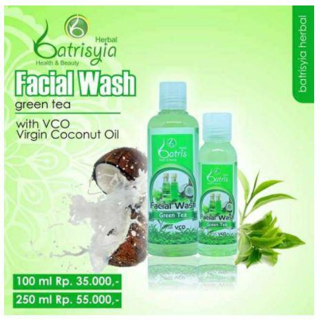 Facial wash green tea batrisyia untuk kulit berjerawat