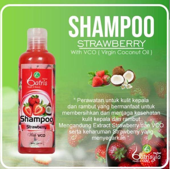 manfaat shampo strawberry batrisyia untuk rambut rusak dan bercabang