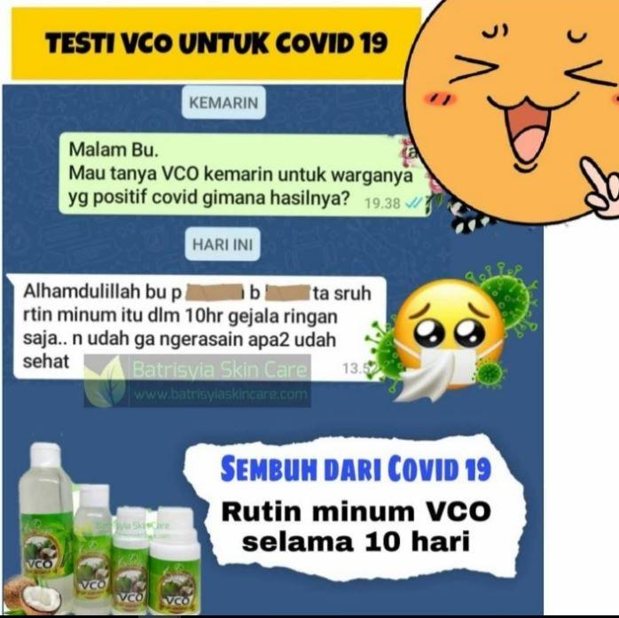 manfaat VCO untuk penderita corona