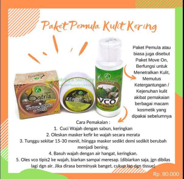 Paket Batrisyia Herbal skincare untuk kulit kering